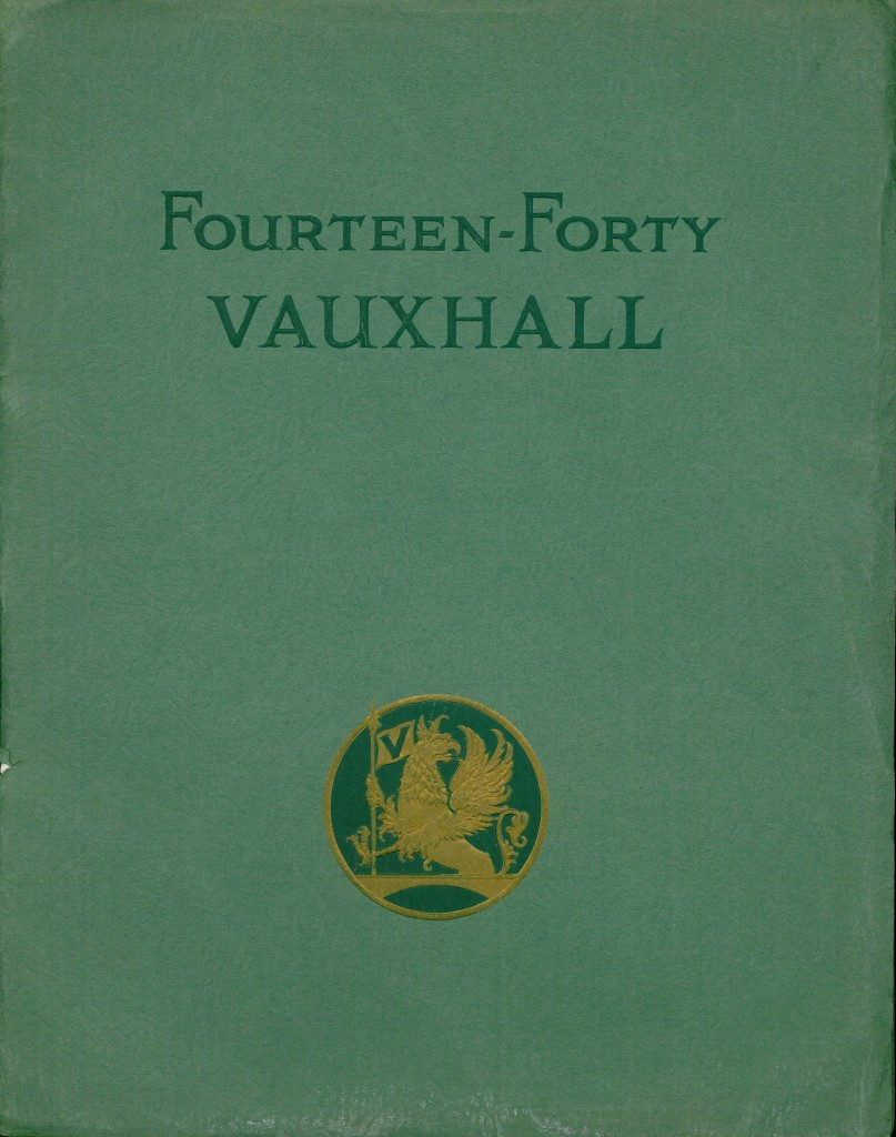 1927 Vauxhall - Brown's first piece of literature from overseas