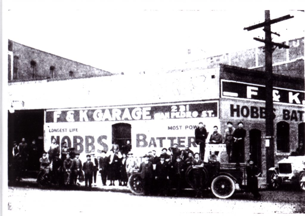 Circa 1918 Photograph of F. & K. Garage