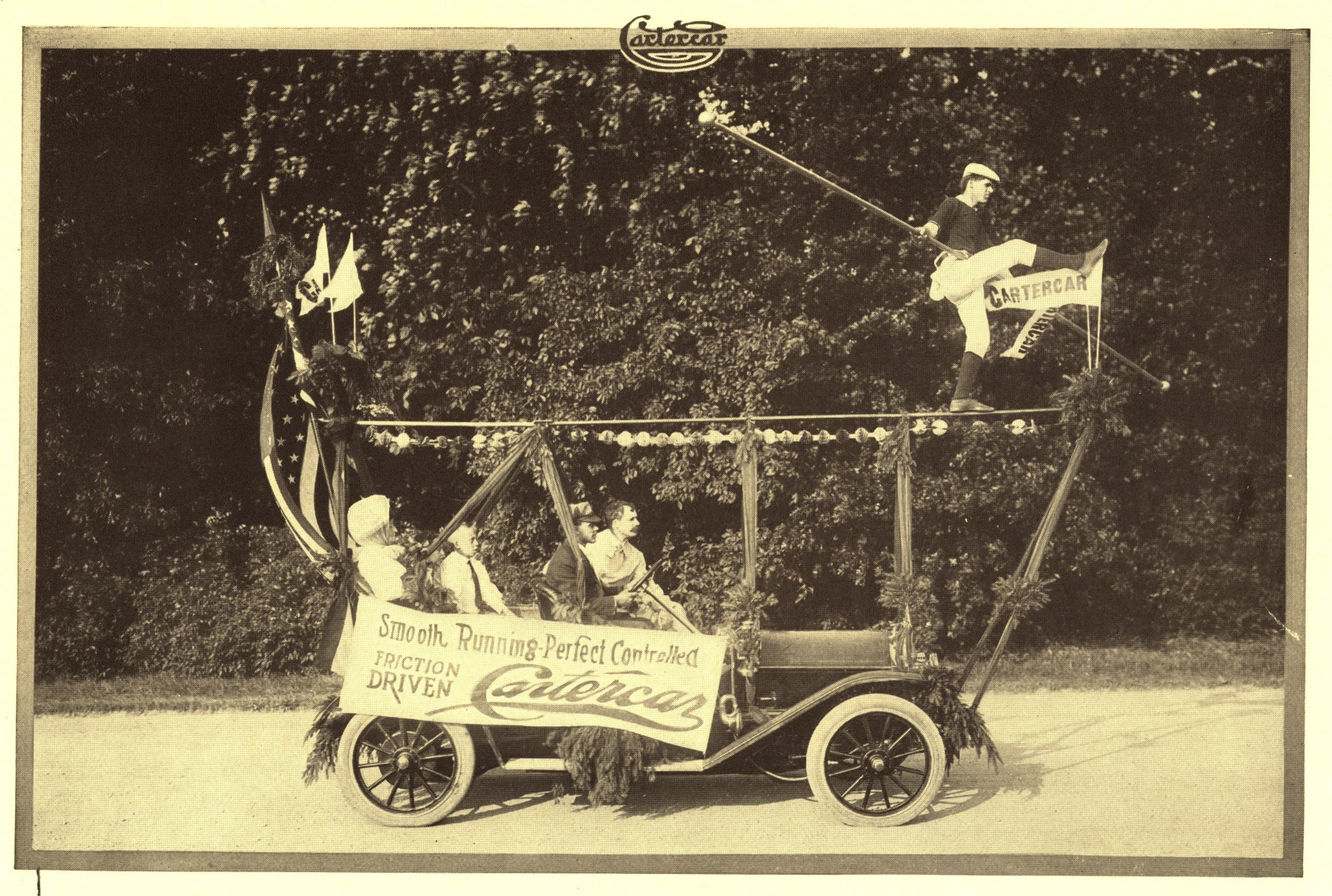 Doan and his balancing act - from circa 1910 Cartercar catalog