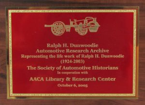 Dunwoodie Archive Plaque
