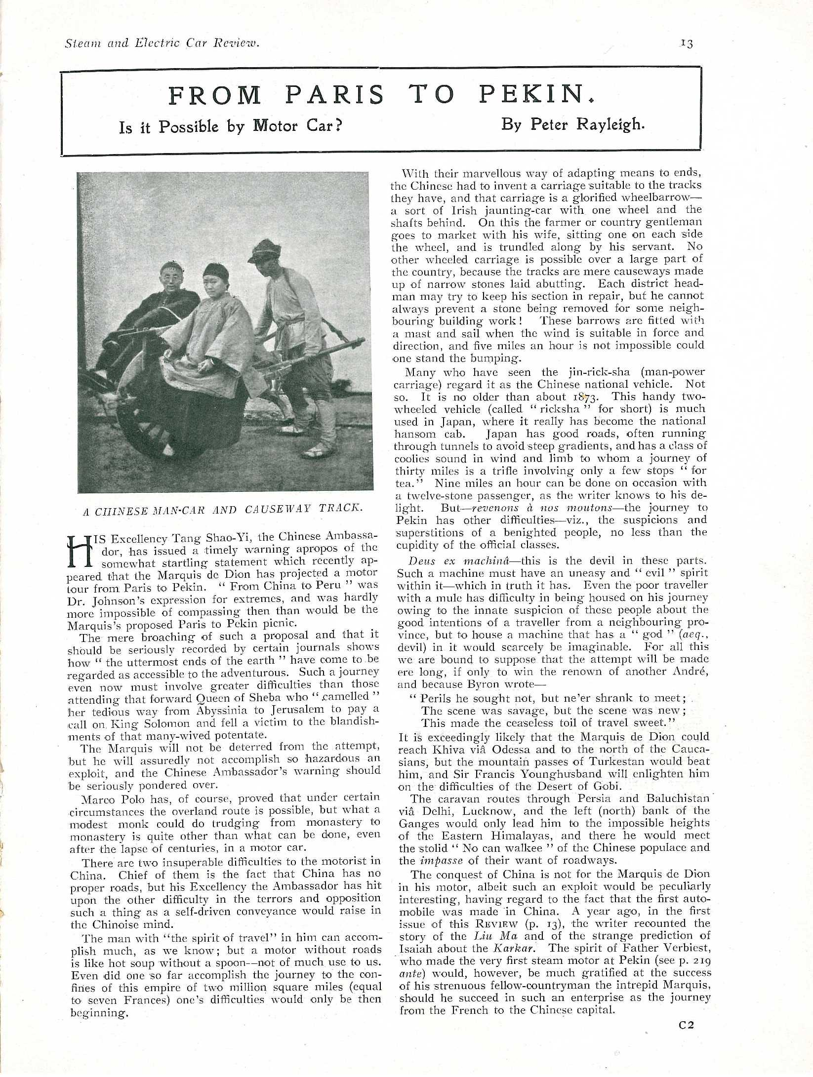 Steam and Electric Car Review - Feb. 1907 small