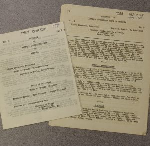The First and Second Issues of the AACA Bulletin
